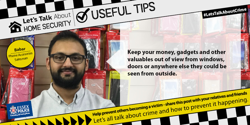 Home Security Essex Police Tip 3